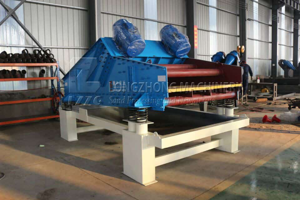 Normalize operation to improve the capacity of dewatering screen.