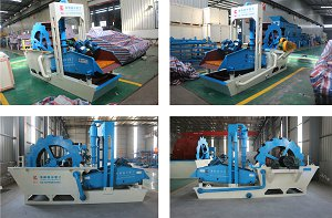 Portable sand washing equipment