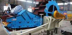 Sand_washing and dewatering machine